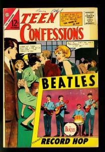 Teen Confessions #31 1964- Beatles cover- Rare Charlton Romance- VG-
