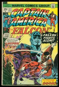 CAPTAIN AMERICA #177 1974-FALCON-LUCIFER FN