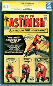 Tales to Astonish #43 (Marvel, 1963) Stan Lee Sig - CGC 6.5