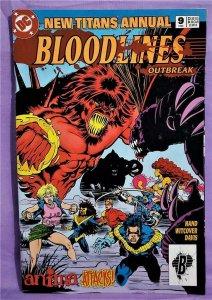 Elizabeth Hand NEW TITANS Annual #9 Malcolm Davis 1st ANIMA (DC, 1993)!