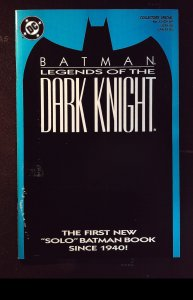 Batman: Legends of the Dark Knight #1 Blue Cover w/poster (1989)