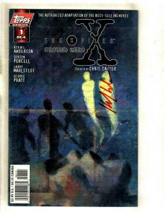 The X Files Ground Zero # 1 VF/NM Topps Comic Book SIGNED Kevin Anderson J372