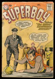 SUPERBOY #58 1957 DC COMICS KRYPTONITE COVER SILVER AGE FR