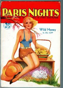 Paris Nights Pulp April 1935-Great Spicy cover-Wild Honey-includes photo section