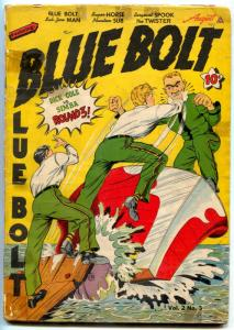 Blue Bolt Vol 2 #3 1941-Twister-Dick Cole-White Rider-Golden Age comic G+