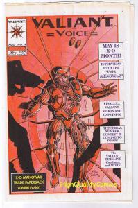 VALIANT VOICE #3,  VF/NM, X-O Manowar, rare, 1993, more Valiants in store