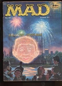 Mad #34, Fine- (Actual scan)