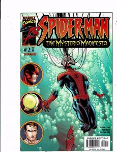 Lot of 2 Spider-Man The Mysterio Manifesto Marvel Comic Books #2 3 BH51