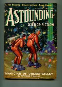 ASTOUNDING OCTOBER 1938-STREET AND SMITH-L. RON HUBBARD-HOWARD BROWN-VF-