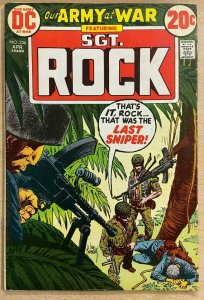 OUR ARMY AT WAR #256 (DC,4/1973) VERY GOOD (VG) Sgt. Rock, Russ Heath