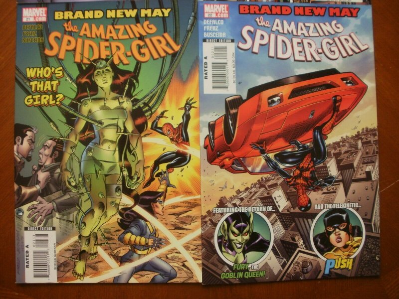 4 Near-Mint Marvel Comic THE AMAZING SPIDER-GIRL #17 20 21 22 Brand New May Fury