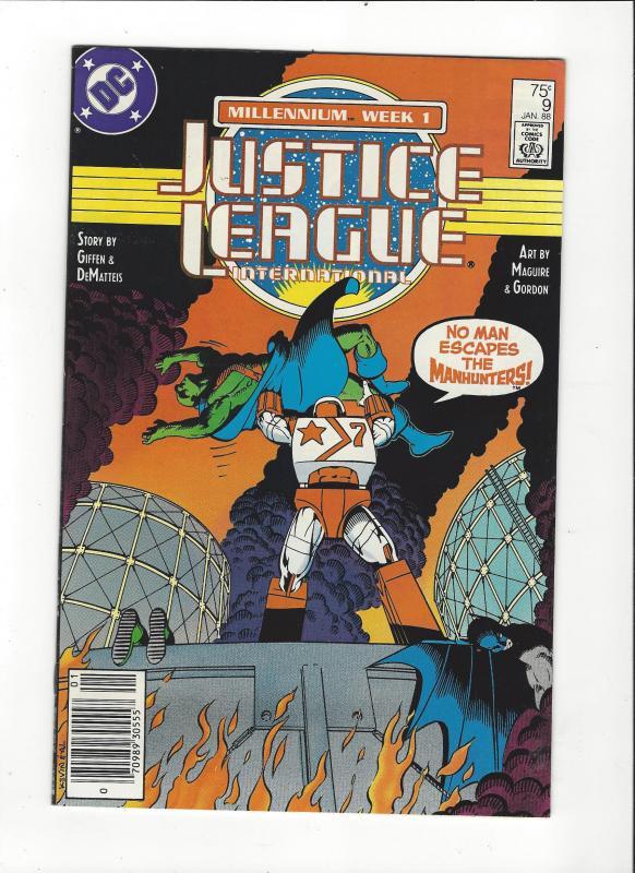 Justice League International #9 1987 DC Comics Copper Age  NM