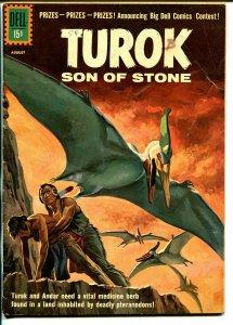 Turok Son Of Stone #24 1961-Dell-pre-historic Indians-pteranadon attack-VG-