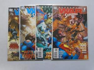 Superman War of the Supermen Set:#1-4, 8.0/VF (2010)