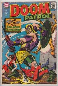 Doom Patrol #116 (Dec-68) VG/FN Mid-Grade Proffesor, Negative Man, Elasti-Wom...