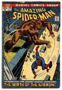 Amazing Spider-Man #110 1972- 1st Gibbon- G