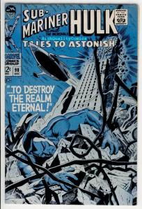 TALES to ASTONISH #98, FN, Hulk, Sub-Mariner, 1959, more TTA in store