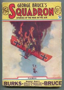 GEORGE BRUCE'S SQUADRON 12/1933-WWI-BI-PLANE-TINSLEY-FLAMING-ISSUE #5-vg