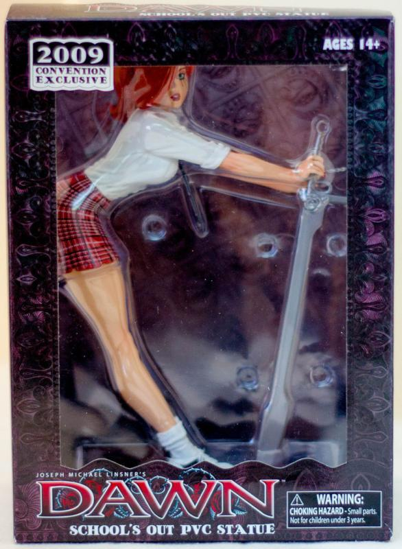DAWN SCHOOL'S OUT PVC Statue, MIB, New, 2009, Joseph Linsner, Plaid Skirt, C