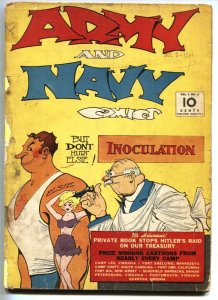 Army and Navy Comics #2 Golden-Age Tattoo cover-HITLER appears 1941