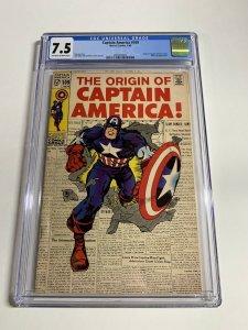 Captain America #109 CGC graded 7.5