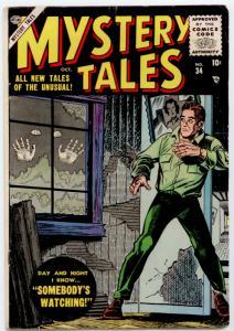 Mystery Tales #34 (Atlas 1955) FN 6.0  Carl Burgos, John Forte  PRE-CODE HORROR