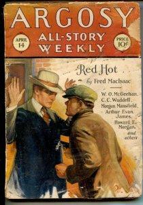 Argosy All-Story Weekly 4/14/1928-Paul Stahl cover-W.O. McGeehan- Fred MacIsa...