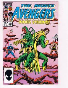 The Mighty Avengers #251 VF Marvel Comics Comic Book Jan 1985 DE24