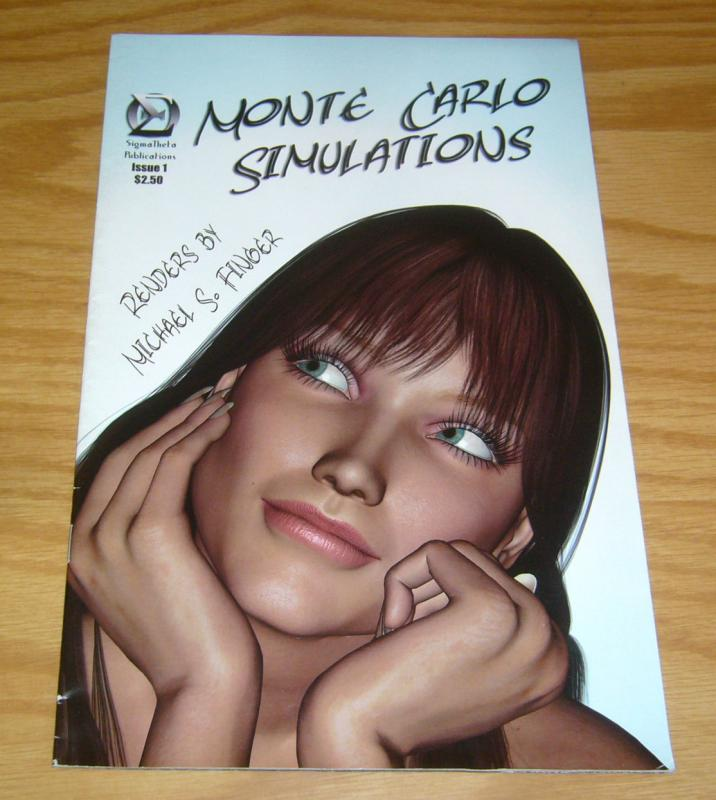 Monte Carlo Simulations #1 FN michael s. finger - 3d illustrations of women