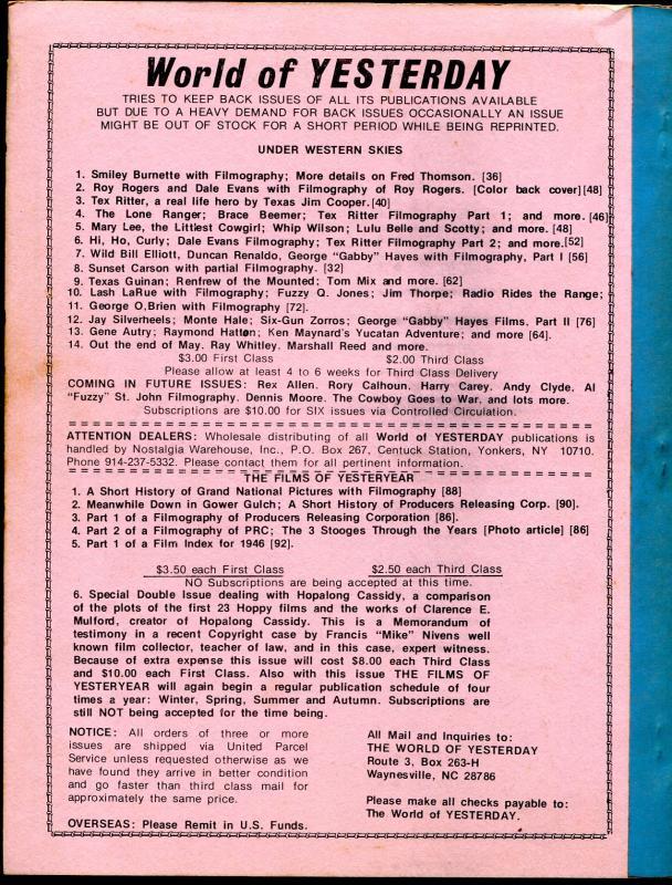 Under Western Skies #14 5/1981-Ray Whitley-Rex Allen-B-Westerns-FR/G