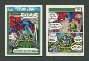 1990 Marvel Comics Card  #150 (Spiderman Presents: Dr Doom) / MINT