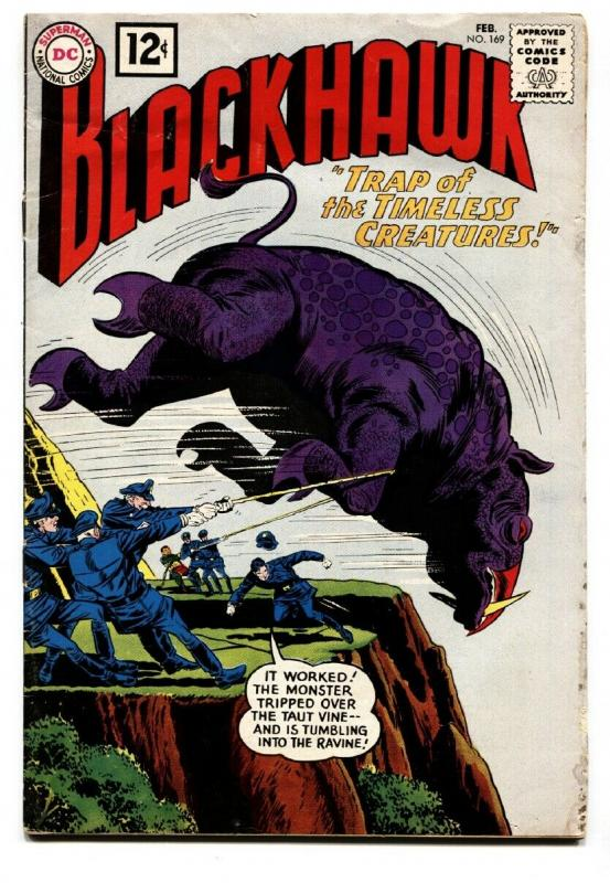 BLACKHAWK #169 1962-DC COMICS-TIMELESS CREATURE TRAP VG-