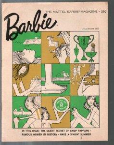 Barbie 7/1967-Mattel-Twiigy-Famous Women in History-Barbie-Doll collectors magaz