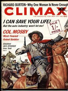 Climax Magazine April 1963-Col. Mosby-Richard Burton-Willie Mosconi