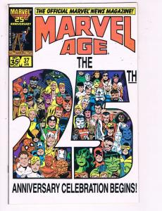 The Official Marvel News Magazine Marvel Age #37 VF Marvel Comic Book DE7