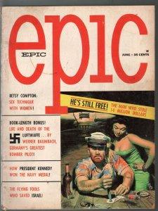 -Epic #3 6/1961-Skye Pub-card game cover-opium-JFK-Luftwaffe-cheesecake-VG