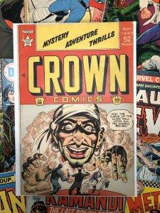 Crown Comics #18 F/VF 7.0 GOLDEN AGE 1949 scarce book ADVENTURE thriller STORY