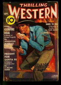 Thrilling Western Pulp September 1938-Johnston McCulley- J Allan Dunn - G/VG