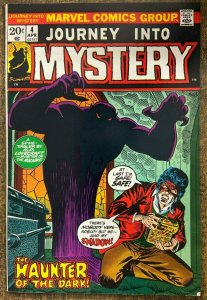 JOURNEY INTO MYSTERY #4  (Marvel, 4/1973) VERY GOOD PLUS (VG+) Gerber/Colan