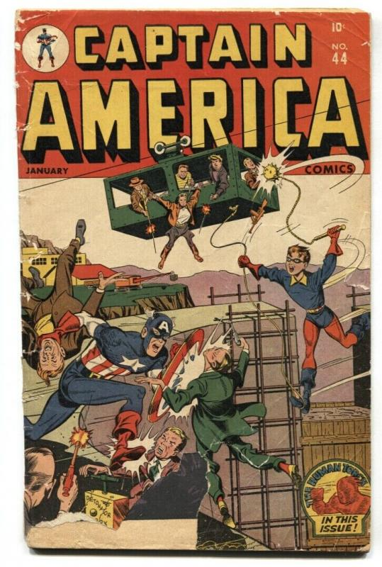 Captain America Comics #44 1945- Timely Golden-Age Alex Schomburg G-