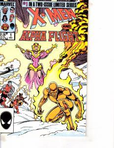 Lot Of 2 Comic Books Marvel X-Men Alpha Flight #1 and #2 Thor   WT21