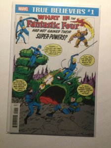 True Believers 1 What If Fantastic Four Had not Near mint Marvel