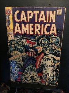 Captain America #107 (1968) Affordable-grade Red Skull, Hitler, Bucky GD/VG