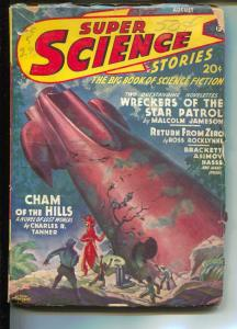 Super Science Stories-Pulp-8/1942-Ross Rocklynne-Isaac Asimov
