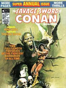 Savage Sword of Conan (1974 series) Annual #1, VF- (Stock photo)