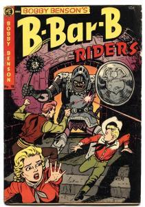 BOBBY BENSON'S B-BAR-B RIDERS #18 1953-HORROR ISSUE VG/FN