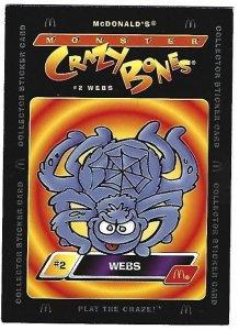 2000 McDonald's Monster Crazy Bones #2 Webs