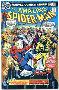 AMAZING SPIDER-MAN #156 1976-Bronze Age-Wedding cover VF/VM