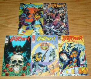 the Butcher #1-5 VF/NM complete series - mike baron - dc comics 2 3 4 1990
