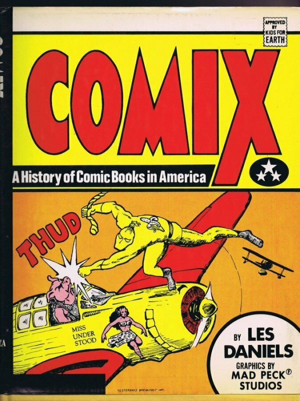 VINTAGE 1971 Comix History of Comic Books in America Hardcover Les Daniels